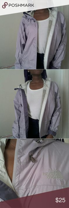 The North Face Lavendar-Colored Jacket This jacket has a hole (in one of the pockets),  and has some regular (barely noticable)  signs of wear.  Other than that,  this jacket is in great condition!  Feel free to make an offer! The North Face Jackets & Coats