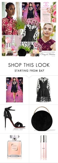 """""""Beauty & Elegance!"""" by prettynposh2 ❤ liked on Polyvore featuring Elie Saab, Christian Louboutin, Eddie Borgo and Chanel"""