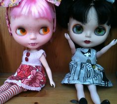 I customised my Basaak Blybe dolls into cute Ghouls.