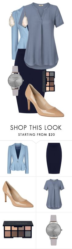 """""""Summer Office Outfit"""" by xidecx ❤ liked on Polyvore featuring WithChic, WearAll, L.K.Bennett, Smashbox, Olivia Burton, Kendra Scott, WorkWear, Summer, simple and clean"""