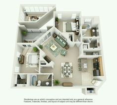 Apartement : Appealing Apartment Floor Plans Design Amaze Today We Feature The Work Of Modeling And Texture Artist Shako 21 Apartement Apartment Floor Plans Luxury Apartment Floor Plans' Apartment Floor Plans' Apartements The Plan, How To Plan, 3d House Plans, Small House Plans, House Blueprints, Style At Home, Ideas De Piscina, Apartment Floor Plans, 3d Home