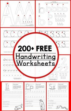 Teaching Handwriting Print these free printable handwriting worksheets for kids in preschool, kindergarten, and early elementary! Improve penmanship with a huge variety of worksheets. Free Handwriting Worksheets, Teaching Handwriting, Kindergarten Handwriting, Free Worksheets, Tracing Worksheets, Handwriting Practice Free, Handwriting Without Tears, Handwriting Activities, Learn Cursive