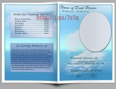 74 best Funeral Program Templates for MS Word to Download images on ...
