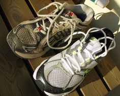 What to do with old sneakers too worn for goodwill? Donate them to Nike. Nike will recycle them into running tracks.