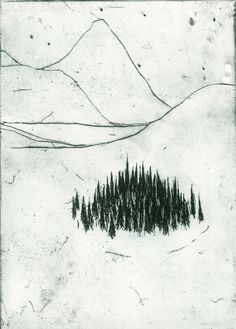 Northern Forest etching by polarplaces on Etsy