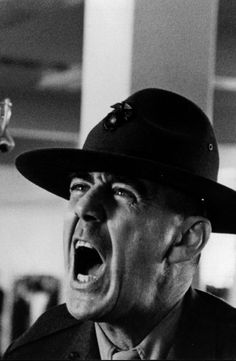 R. Lee Ermey as Gunnery Sergeant Hartman in Full Metal Jacket.