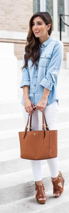 Chambray Addict Casual Chic Streetstyle by The Darling Detail