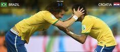 Neymar and David Luiz
