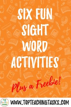 Fun sight word activities draw on both kinesthetic and visual learning and can merge neatly into a play-based learning environment. Fry Sight Words, Dolch Sight Words, Visual Learning, Play Based Learning, Early Reading, Sight Word Activities, High Frequency Words, Spanish Language Learning, Reading Fluency