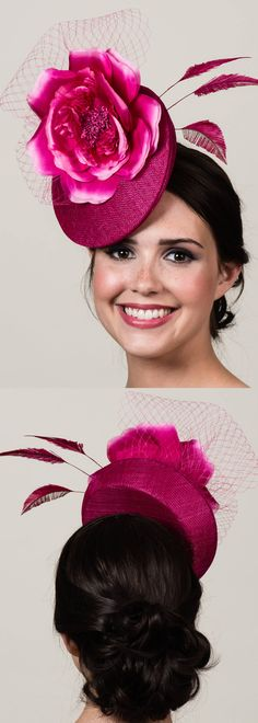Pink Sinamay 3D Percher Hat in Magenta Fuchsia. Vibrant Fascinator for the Kentucky Derby. Derby hats are about having fun with floral hats. Beautiful hat for your Kentucky Derby, or Royal Ascot Ladies Day Fashion outfits. Also popular colour for a Mother of the bride. Outfit ideas and inspiration. #outfits #etsyfinds #kentuckyderby #derbyoutfits #kentuckyderbyhats #derbyhats #royalascot #ascothats #millinery #outfitideas #fashion #fashionista #motherofthebride #affiliatelink