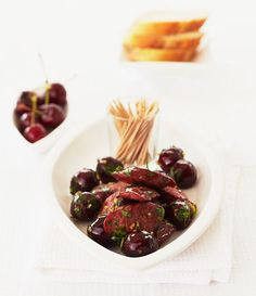 Chorizo and Cherry Tapas Plate