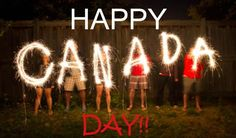 Picture of The word Canada in sparklers in time lapse photography as part of Canada Day (July celebration. stock photo, images and stock photography. Canada Day Party, Canada Day Events, Canada Day Long Weekend, Happy Canada Day, Pvt Canada, Canada Eh, Canada Memes, Visa Canada, Toronto Canada