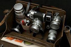 Beautiful bespoke Leica camera bag