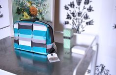 Betty & Walter | Blue toiletry bag designed by Lisa Levis (nee Stickley), Damson Jam is a sizable Betty & Walter favourite! | Washbag