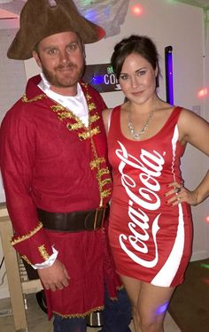 Captain and Coke costume for the perfect duo this Halloween