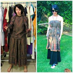From frumpy 3-Piece to a No-Sew Boho Frock!