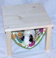 Kleintiere - Hängematte u.Holzgestell,Meerschweinchen,Äpfel - ein Designerstück von lazzyy bei DaWanda