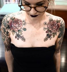 Chest tattoo flowers, rose chest tattoo, flower cover up tattoos, Chest Tattoo Flowers, Flower Cover Up Tattoos, Rose Chest Tattoo, Chest Piece Tattoos, Pieces Tattoo, Chest Tattoo Butterfly, Lena Tattoo, Botanisches Tattoo, Cover Tattoo