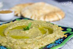 Deliciosa receita de Babaganoush - Pasta de berinjela assada com gergelim, azeite e limão.