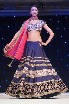 Stunning Manish Malhotra navy blue.