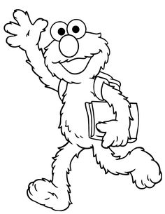elmo goes to school coloring page free printable coloring pages