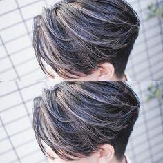 Men Hair Color Highlights, Hair And Beard Styles, Curly Hair Styles, Hairstyles Haircuts, Cool Hairstyles, Asian Haircut, Gents Hair Style, Mens Hair Colour, Kpop Hair