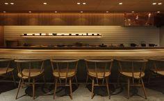 せりざわ | swans Japanese Restaurant Design, Modern Restaurant, Cafe Restaurant, Japanese Shop, Japanese Modern, Japanese Design, Japanese Lighting, Teppanyaki, Asian Restaurants
