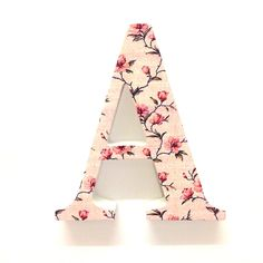 Wooden Floral Letters Gift Floral Letters Prettytwisted