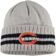 15db93de2ad Chicago Bears 2 Stripe Cuffed Knit Cap by New Era