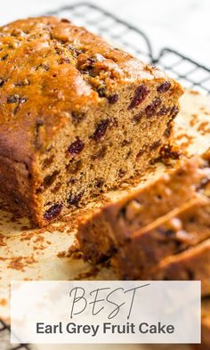 This English Earl Grey Fruit Cake is a delicious and healthy treat without nasty ingredients. Easy to make, flavorful and pairs perfectly with your morning cup of tea or coffee. The recipe is perfect for weekend baking. English Desserts, English Food, English Recipes, Baking Recipes, Cake Recipes, Dessert Recipes, Breakfast Recipes, Best Earl Grey Tea, Vegan Teas