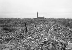Rubble of the Warsaw Ghetto after the Germans dynamited it to the ground following the Warsaw Ghetto Uprising 1943.