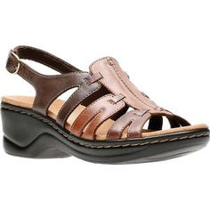 5851feb51a6 Clarks Women s Lexi Marigold Sandal Brown Multi Leather (US Women s 6.5  (Wms 6.5)