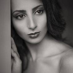'Samira III' © Dave Bowman Photography. http://bit.ly/1dTHx1E #blackandwhite #portraiture #beautifulwomen #theface #leica #summilux