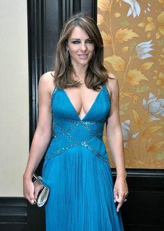 Elizabeth Hurley, Blue Gown, Great Legs, Beautiful Celebrities, Beautiful People, Blue Dresses, Celebs, Female Celebrities, Gowns