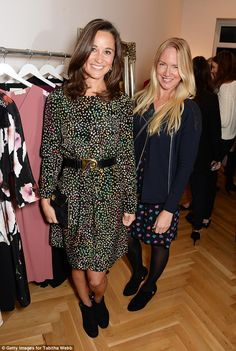 9/23/2014: Pippa rocks a pretty dress at the store opening (Westminster, London)