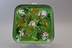 Copper enamel bowl - dish Colors on this bowl are green, white, yellow, red and brown each side is 15 cm This vintage bowl is in good condition Enamel Dishes, Green Bowl, Vintage Bowls, Metals, Lunch Box, Copper, Pottery, Ceramics, This Or That Questions