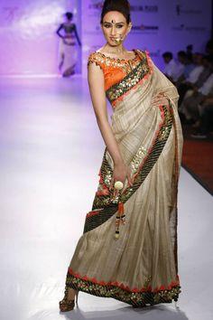 Gota applique embroidery technique. Indian fashion