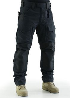 ZAPT Breathable Ripstop Fabric Pants Military Combat Multi-Pocket Molle Tactical Pants with EVA Knee Pads Mens Tactical Pants, Tactical Clothing, Combat Pants, Army Camo, Camo Pants, Men's Pants, Black Pants, Trousers, Military
