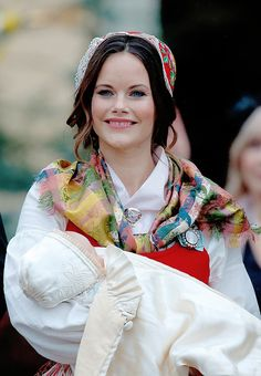HRH Princess Sofia of Sweden holds her son, Prince Gabriel Carl Walther, after his christening on December 1, 2017.