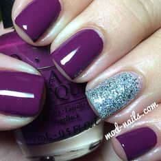Purple nails Visit my site http://youtu.be/4yfEGZnJ96M #nails #health