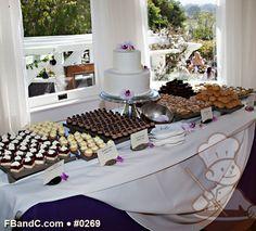 "Design W 0269   10""+6"" Butter Cream Wedding Cake & Dessert Bar   Custom Quote"