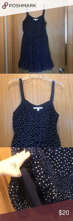 Pretty Polk-a-dot Dress Fun. Pretty. Flowy. Polk-a-dot. Pleated Dress. Size 12. Worn once. Like new. LC Lauren Conrad Dresses