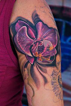 Exotic Flower Tattoos | Forbidden Images Tattoo Art Studio : Tattoos : Flower : Exotic...