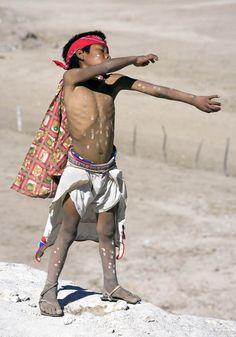North America: Tarahumara boy, Tehuerichi, Mexico (image by Luc Novovitch)