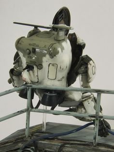 1:20 sci-fi scale model, Maschinen Krieger Superball, by Julius Lim. Pinned by #relicmodels