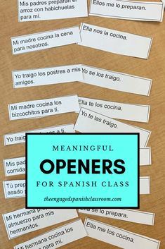 Spanish Class Openers and Warm-Up Routines | Middle School and High School Spanish