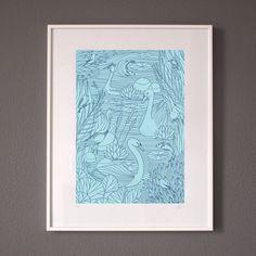 Birds - Limited Edition Silk Screen Print £60   #screenprint #print #art #illustration #drawing #gift #lauriehastings