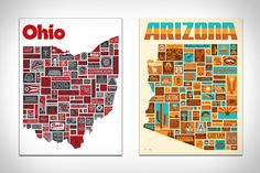 Draplin State Posters