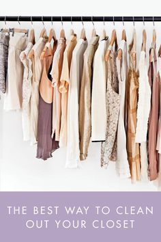 The Best Way to Clean Out Your Closet via @PureWow