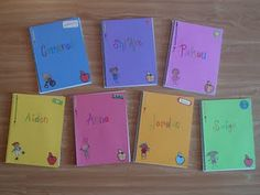 "End of the Year Gifts.. this is really sweet! Students names on the cover of a blank notebook, inside teacher has written story starters like ""once upon a time"", ""this summer i will"", ""dear teacher"" etc to keep kids writing all summer!"